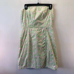 VINEYARD VINES- Strapless Wrap Sundress Size 8